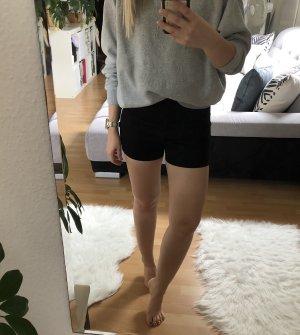 Shorts Skinny, Reißverschluss, schwarz