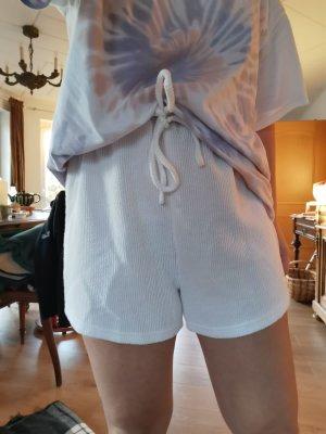Sabo Skirt Short taille haute blanc