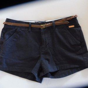 Superdry Shorts dark blue-cognac-coloured cotton