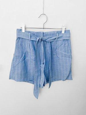 H&M Short taille haute multicolore lin