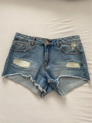 New Look Short en jean bleu azur