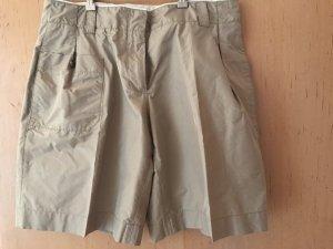 Prada Pantaloncino a vita alta beige chiaro Tessuto misto