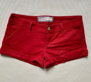 Abercrombie & Fitch Shorts rosso Cotone