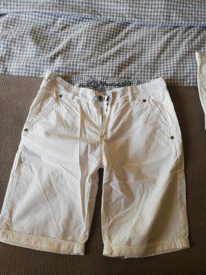 AWG Mode Pantalón corto de tela vaquera blanco Algodón