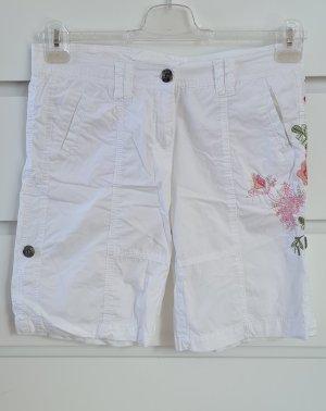Shorts weiß mit Blumenmuster - Größe 38 M - Neuwertig - Sommer