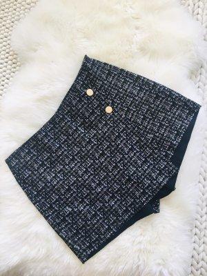 Shorts Zara mit Knöpfen Gold schwarz