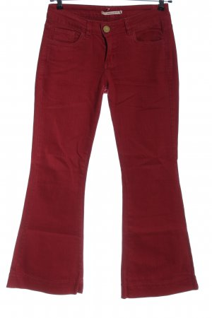 shoulder Denim Flares red casual look