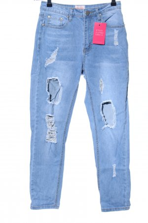 Showpo Karottenjeans blau Casual-Look