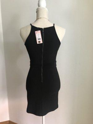 Showpo Kleid geripptes Kleid schwarz S NEU mit Etikett Showpo