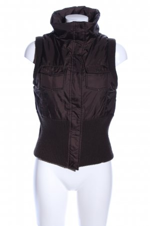 Quilted Gilet black casual look