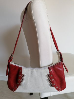 Shoulder Bag white-red leather