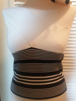 Zara Koszulka w paski biały-czarny