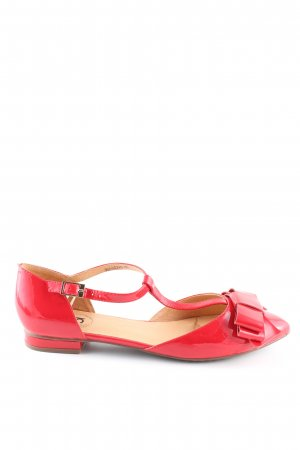 Si Barcelona Patent Leather Ballerinas red casual look