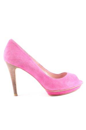 si by sinela Peep Toe Pumps pink casual look