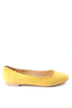 Sí Składane baleriny bladożółty W stylu casual