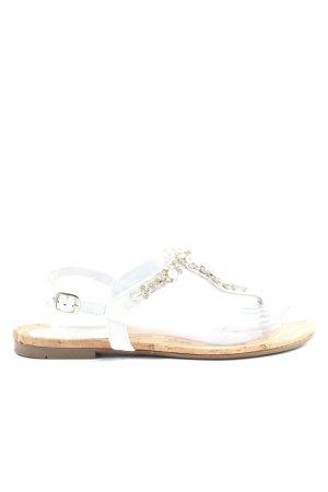 Sí Wygodne sandały kremowy-w kolorze białej wełny W stylu casual
