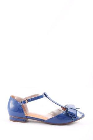 Sí Ballerina's met bandjes blauw casual uitstraling