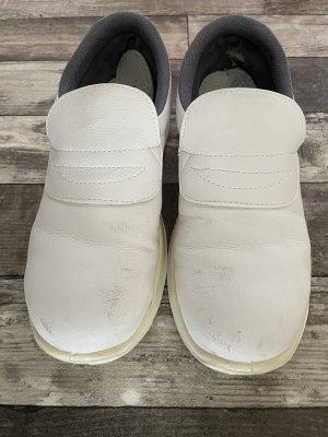 Botas de fieltro blanco