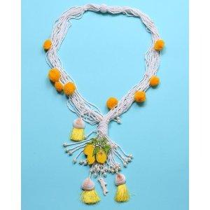 Collana di conchiglie multicolore