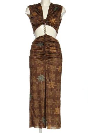 Siedres Vestido cut out estampado con diseño abstracto estilo extravagante
