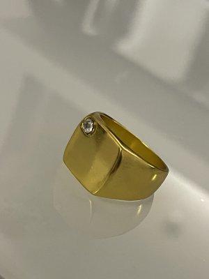 siegelring in gold mit weißem stein 18.1 mm