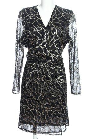 Sienna Abendkleid schwarz-silberfarben abstraktes Muster Elegant
