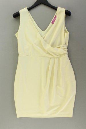 Sienna Abendkleid Größe 42 Ärmellos gelb aus Polyester