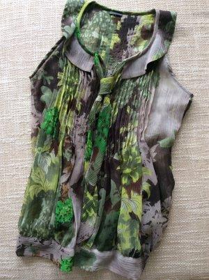Sienna Bluse transparent in verschiedenen Farben grün / braun