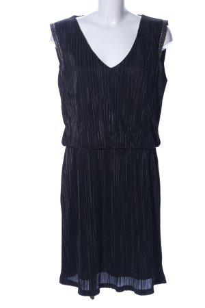Sienna Blusenkleid schwarz Streifenmuster Casual-Look