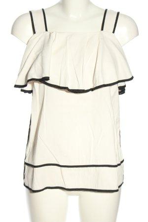 Sienna Blouse topje wit-zwart casual uitstraling