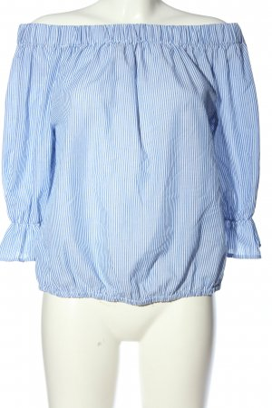 Sienna Carmen-Bluse blau Streifenmuster Casual-Look