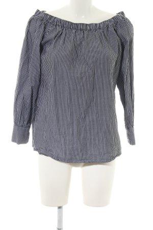 Sienna Carmen-Bluse schwarz-weiß Streifenmuster Casual-Look