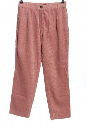Sienna Pantalone di velluto a coste rosa stile casual