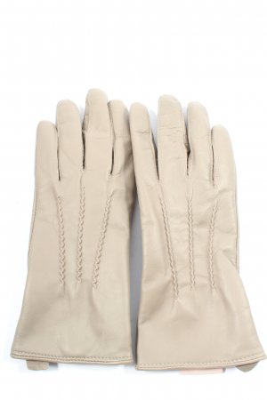 Sienna de Luca Leather Gloves cream casual look