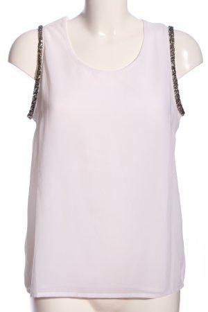 Sienna ärmellose Bluse weiß-schwarz Casual-Look