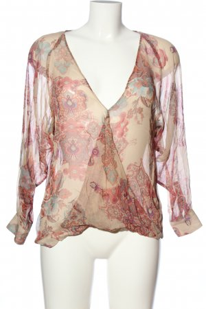Sienna Hemd-Bluse creme-pink abstraktes Muster Casual-Look