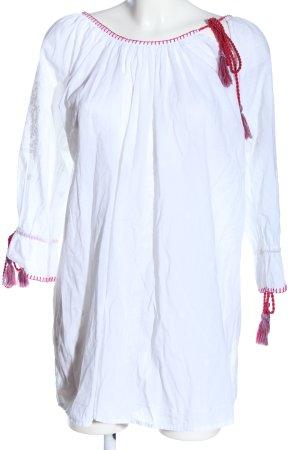 Sienna Vestido Hippie blanco-rojo look casual