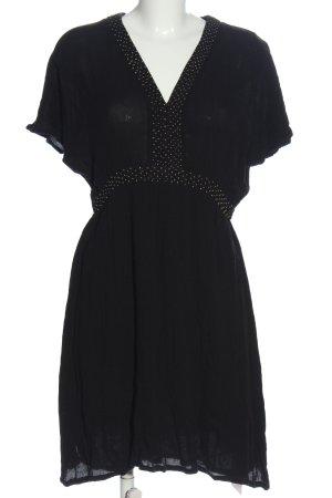 Sienna Kurzarmkleid schwarz-weiß Punktemuster Casual-Look