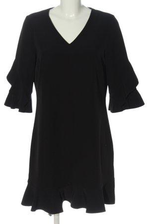 Sienna Kurzarmkleid schwarz Elegant