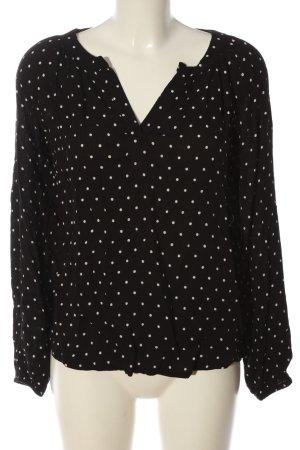 Sienna Langarm-Bluse schwarz-weiß Allover-Druck Casual-Look