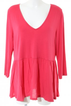 Sienna Long-Bluse rot Casual-Look