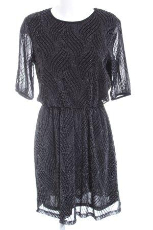 Sienna Minikleid schwarz-silberfarben abstraktes Muster Casual-Look