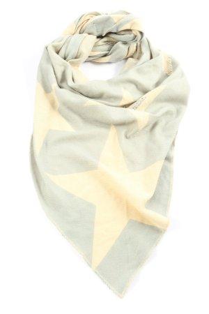Sienna Écharpe en tricot gris clair-crème imprimé allover style décontracté