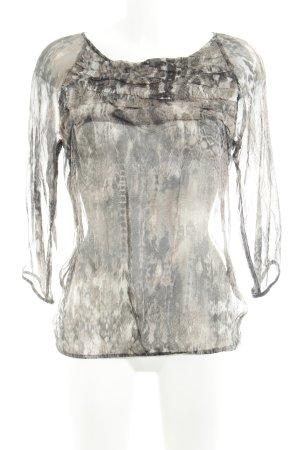Sienna Transparenz-Bluse abstraktes Muster Elegant
