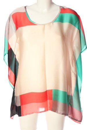 Sienna Transparenz-Bluse mehrfarbig Party-Look