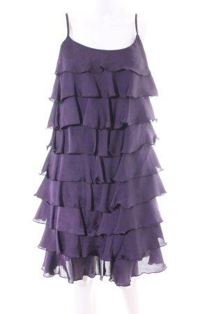 Sienna Flounce Dress lilac elegant