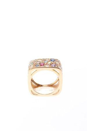 "Sif Jakobs Ring mit Zierstein ""Novara Quadrato Ring Multicoloured Zirconia Gold"""