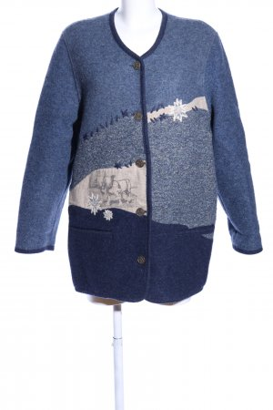 Sigi Scheiber Traditional Jacket blue-natural white flecked casual look