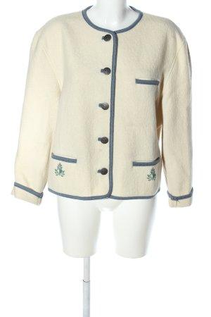 Sigi Scheiber Giacca tradizionale bianco sporco-blu stile professionale