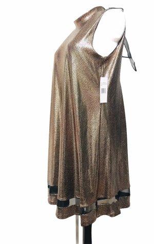 Signature Damen Kleid Gold Schwarz L